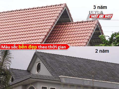bền màu của ngói màu SCG Thái Lan