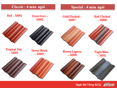 ngói màu SCG dạng sóng