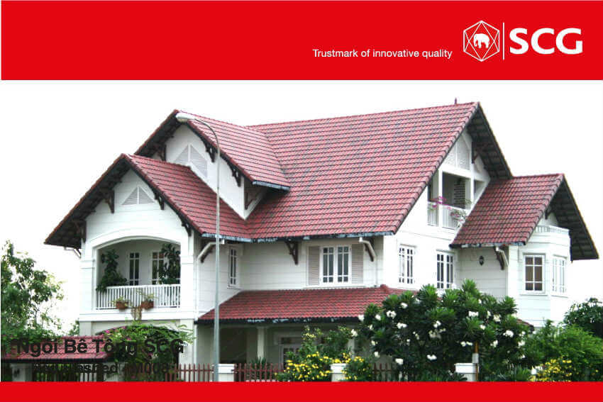 Ngói màu SCG Thái Lan – Sự Lựa Chọn Cho Mái Biệt Thự Bền Đẹp