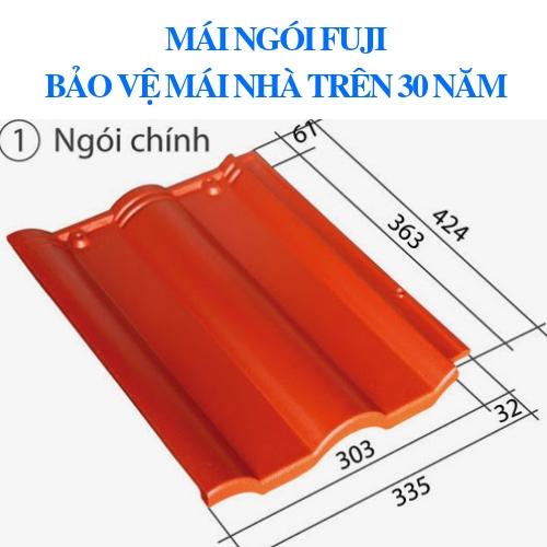 ngói màu fuji dạng sóng